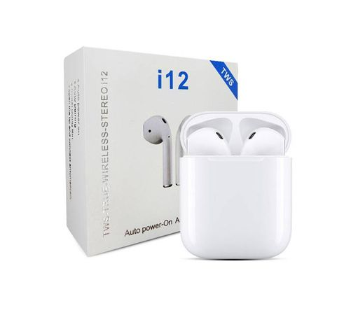 Слушалки тапи с блутууд I12 TWS стерео с функция handsfree