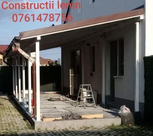 Constructii lemn - foisor, terasa, garaj, pergola, balcon