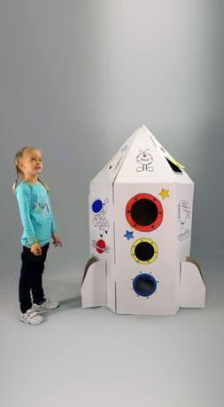 Картонный домик ракета-юрта-дом