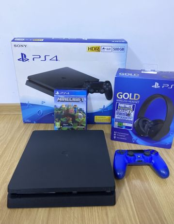 PlayStation 4 PS4 Slim/ 500GB/ +Casti originale PS4/ Fullbox/Minecraft