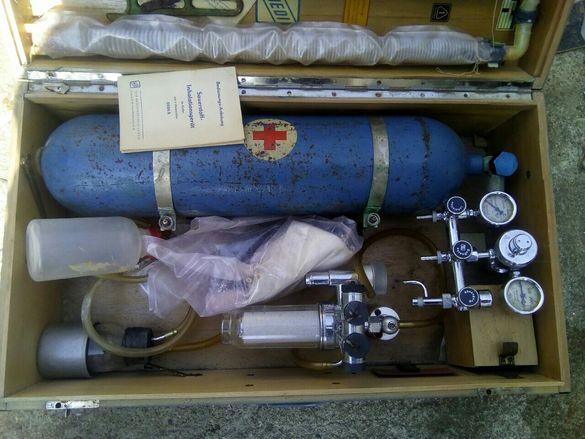 Кислородна бутилка ,апарат с редуцил за дишане