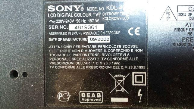 Dezmembrez Tv SONY KDL-40S4000 DISPLAY SPART