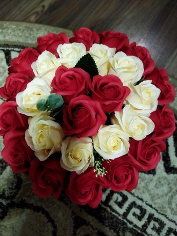 букеты из мыльных роз