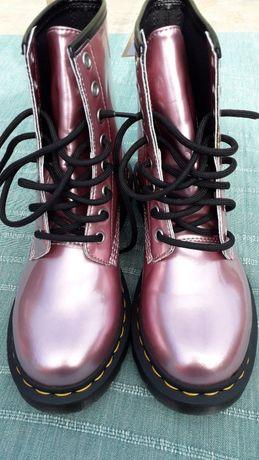 Dr Martens 1460 Vegan Pink Goldmix bocanci/ghete noi
