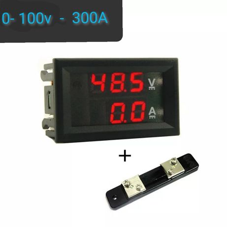 Комбиниран волтметър амперметър 0 - 100v - 300A амп метър амперклещи