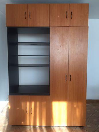 Dressing 3m format din 2 părți egale, șifonier cu 3 uși + biblioteca