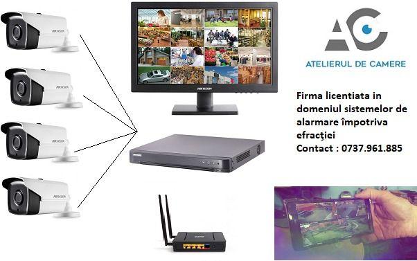 Montaj sisteme supraveghere , alarma, interfon, porti automate