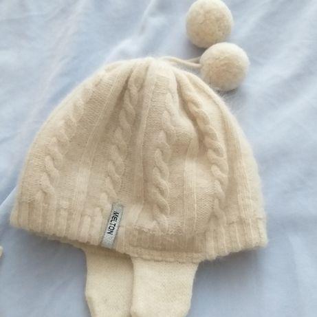 Melton -20%ангора 70%wool /Okaidi шапки