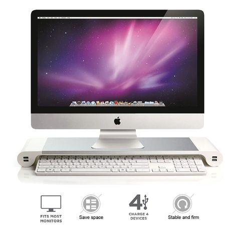 Алуминиева Apple iMac Стойка + Зарядни USB HUB Устройства за работ