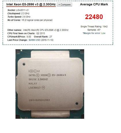 Statie grafica , editare foto video intel xeon E5 2696 (2699) v3