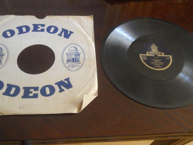 Placa patefon/gramofon Odeon- Foxtrot ,in coperti originale,