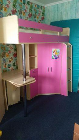 Продам детская мебель: кровать, шкаф, стол