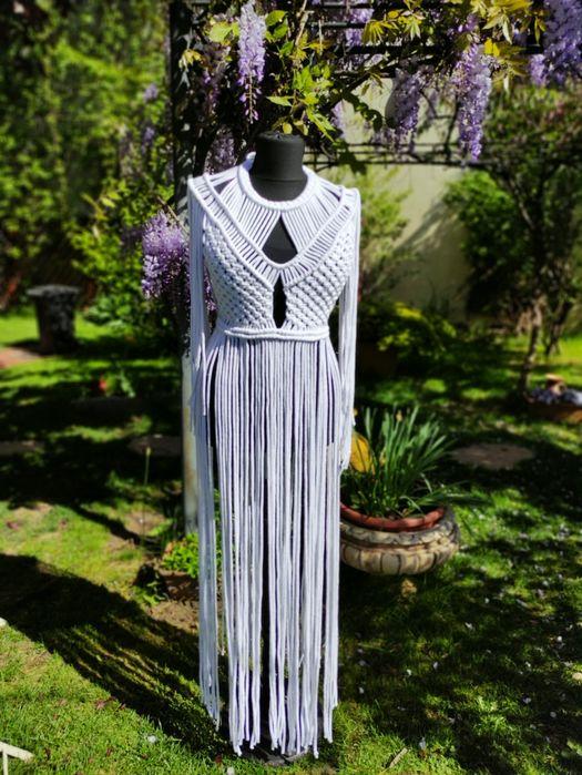 Rochie - compleu, boho macrame, festival dress Bucuresti - imagine 1