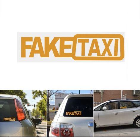 Fake taxi стикер за кола-2бр за 5лв