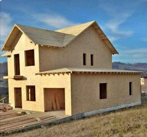 Vindem case pe structură de lemn sau pe structură metalică