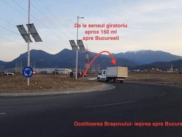 Teren front direct la şoseaua de centură/ocolitoare a Braşovului