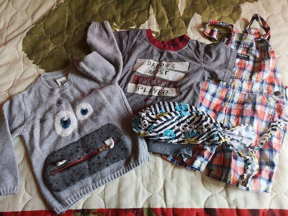 Лот за момченце 2 г. (тениска Nike,гащеризон Oshkosh, пуловер Zara)