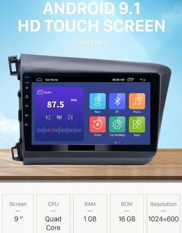 Navigatie dedicata Honda Civic 2012-2015 9 inch Android+Rama speciala