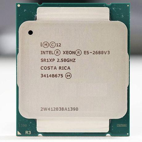 Процесор CPU Intel XEON E5-2680 v3 12/24 core дванадесет ядрен 2011-3