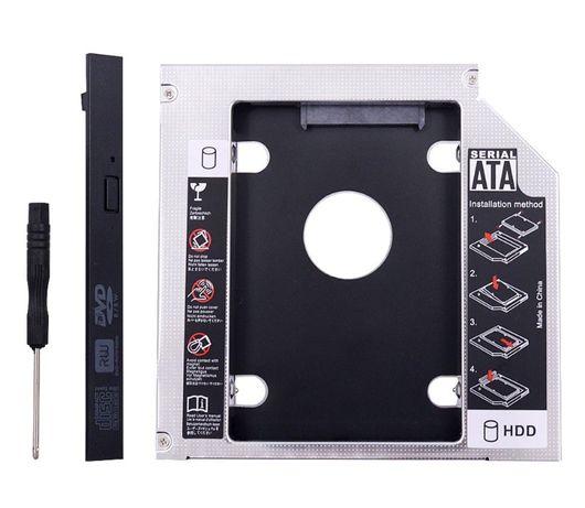 Caddy HDD/SSD адаптер за оптично устройство за лаптоп, Sata-Sata, 9.5m
