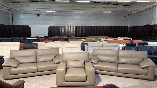 Кожаный комплект сиденье диван