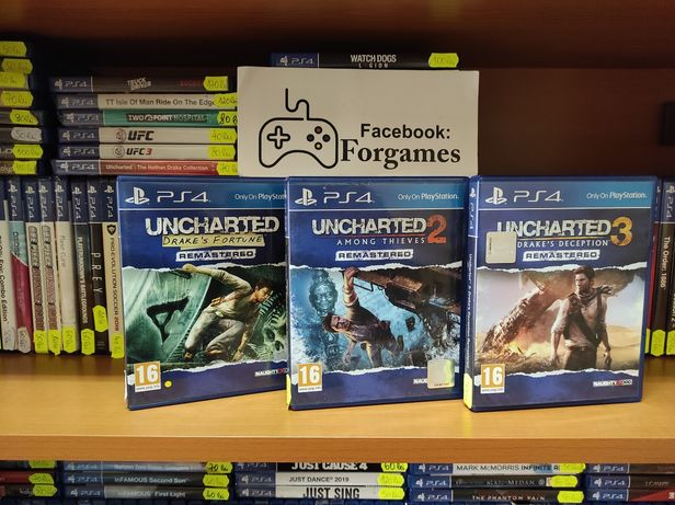 PS4 Uncharted 3: Drakes Deception , Drake's Fortune PS4, Among Thieves