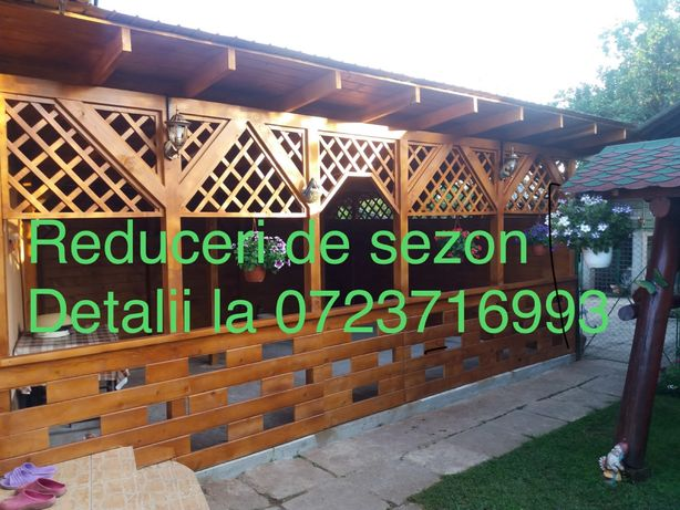 Foisor din lemn și terase
