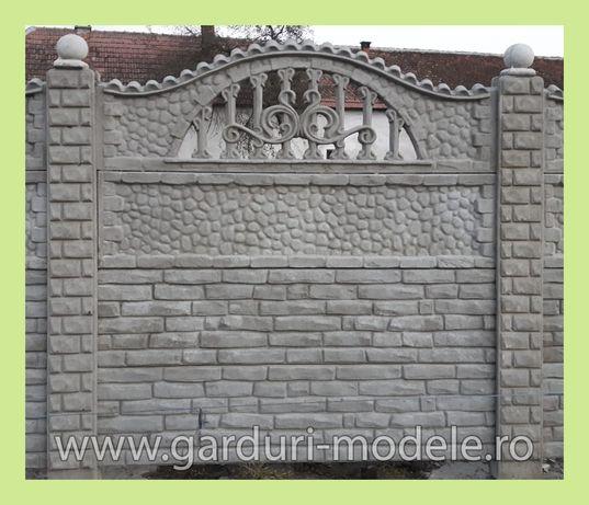 Gard durabil din placi și stâlpi prefabricați din beton TRANSPORT