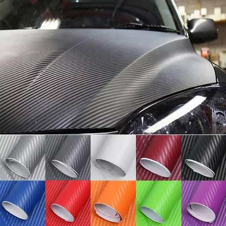 3Д и 5Д стикер лепенка фолио карбон различни цветове и размери