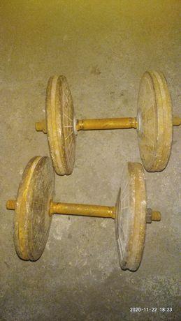 2 Гантели по 16.5 кг каждая