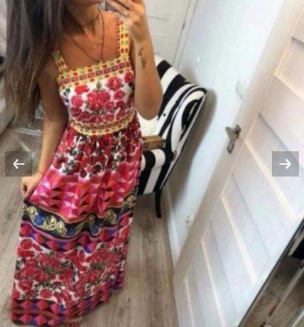 Дамска рокля в сввжи цветове