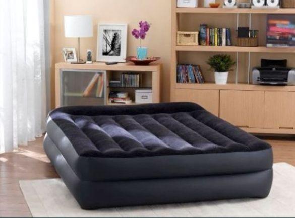 Луксозно Надувамо Легло Двоен матрак с вградена помпа Intex интех
