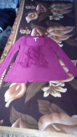 Дамска блуза трико с дълъг ръкав