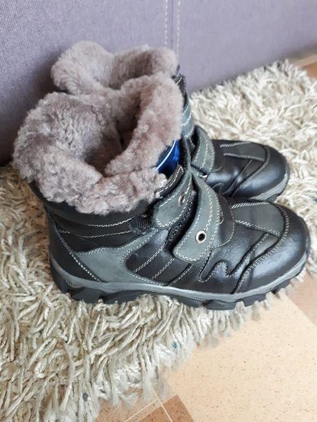 Кожаные зимние ботинки Pafi на 32/33р.