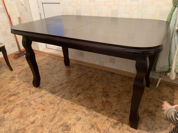Продам обеденый стол со стульями 6 шт