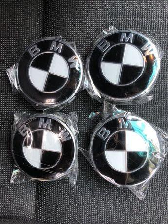 Capace roti jante aliaj BMW Alb/negru Black/white E46 E90 E60 X3 X5 X6