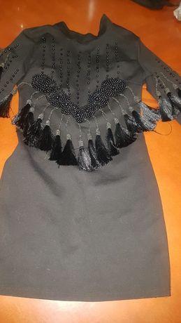 Продам эксклюзивное черное платье очень дешево 44 - 46 размер