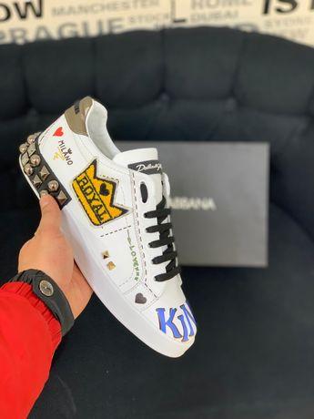 Adidasi Dolce Gabbana piele naturala Top