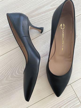Pantofi negri , noi , piele naturala, Mourtzi