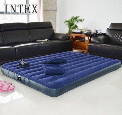 Двуспальный надувной матрасIntex(152*203см) +насос+2 подушки
