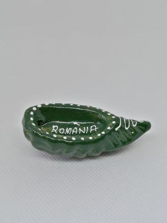 Magnet frigider ceramica/lemn - România