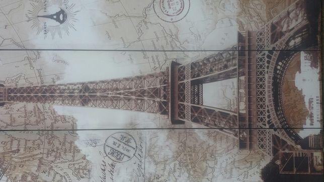 Paravan pliabil ,decor cu turnul Eiffel