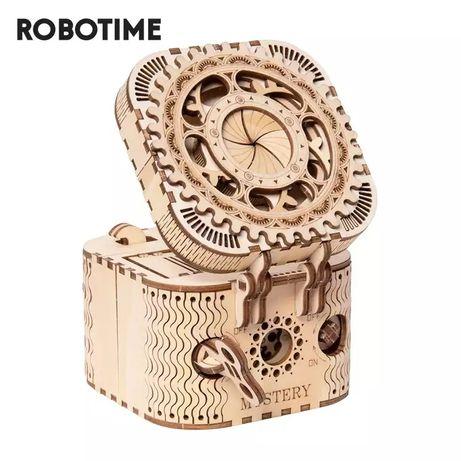 Деревянный 3D пазл, каробка для хранения украшений канструктор.
