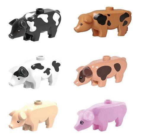 Seturi figurine tip LEGO City Animale urs felina crocodil caine porc