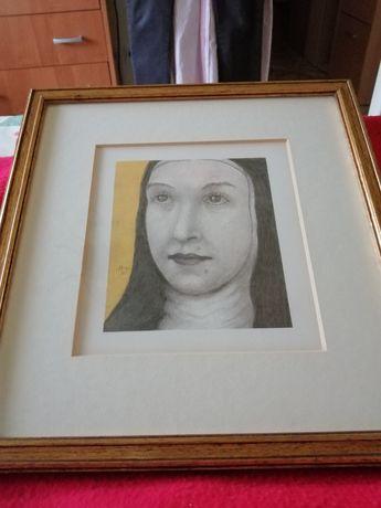 Portret in creion