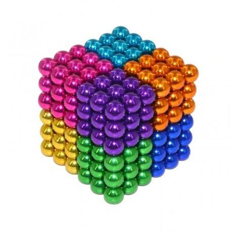 216 Магнитни Топчета (сфери) цветни 5 мм, в метална кутия