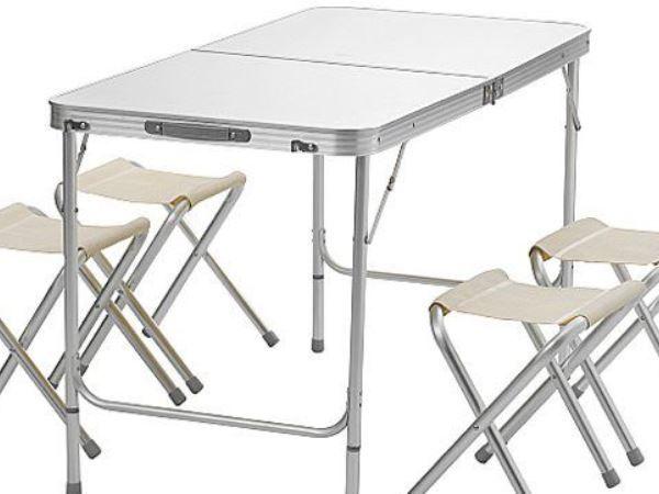 Раскладной стол с 4 мя стульчиками - креативный подарок любимым