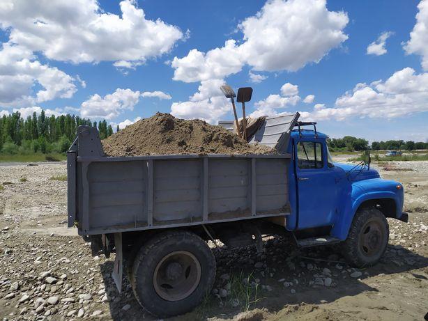 Перевозка и доставка гравий песок глина булыжники уголь. ЗИЛ