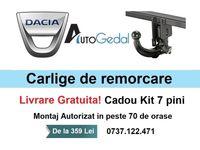 Carlig Remorcare Dacia Duster Livrare Gratuita - Omolgat RAR si EU
