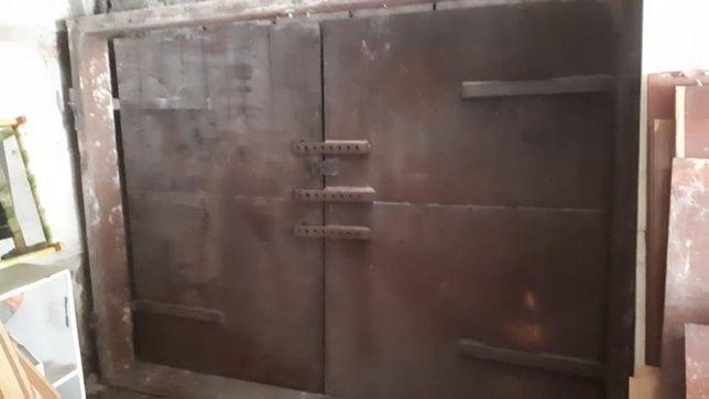 Ворота гаражные металлические с рамкой. 95.000 тенге
